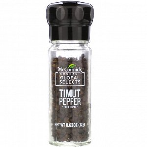 McCormick Gourmet Global Selects, Timut Pepper From Nepal, 0.63 oz (17 g)