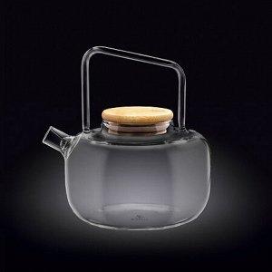 WILMAX Thermo Glass Заварочный чайник с деревянной крышкой 1000мл WL?888821/A