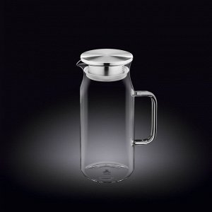 WILMAX Thermo Glass Термо кувшин со стальной крышкой 1000мл WL-888205A
