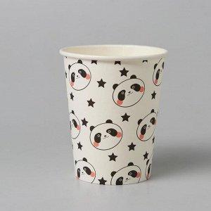 Стакан бумажный «Панда», набор 6 шт.