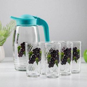 Набор питьевой «Фруктово-ягодный микс», 7 предметов: кувшин 1,7 л, 6 стаканов 230 мл, МИКС