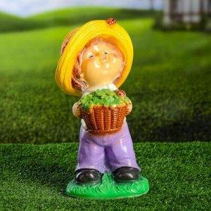 """Садовая фигура """"Мальчик в шляпе"""" 15х15х30см"""