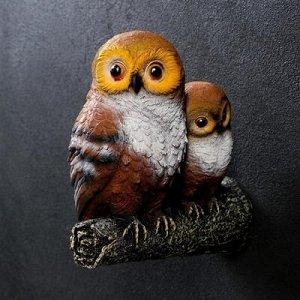 """Подвесной декор """"Две совы на ветке"""""""