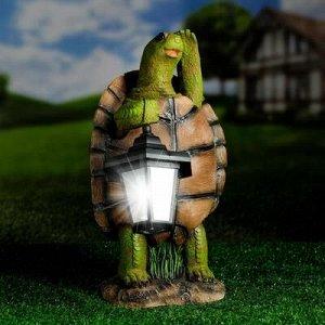 """Садовый фонарь """"Черепаха с фонарем"""" 20х18х37см"""