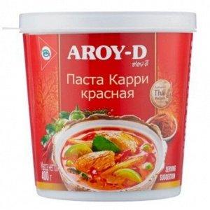 """Паста """"Карри красная"""" AROY-D 400г, пл\б 1*24"""