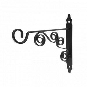 Кронштейн для кашпо мод.9  30 см, черный