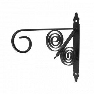Кронштейн для кашпо мод.8  30 см, черный