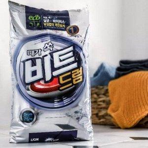 LION Концентрированный стиральный порошок (для всех видов тканей) «BEAT DRUM» для автоматической стирки, мягкая упаковка, 2,5 кг.
