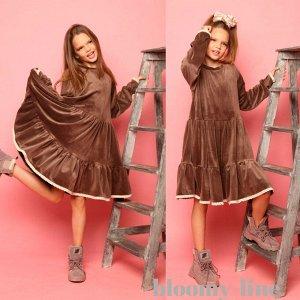 """Велюровое платье из японского велюра """"MATILDA"""""""