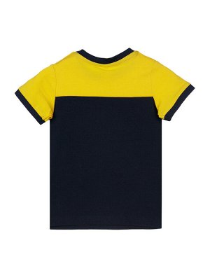Комплект Состав: 95% хлопок, 5% эластан  Сезон: Весна, Лето  Цвет: синий, белый, жёлтый  Год: 2021 *Комплект: футболка, шорты *из качественного эластичного и приятного на ощупь трикотажа джерси *вы