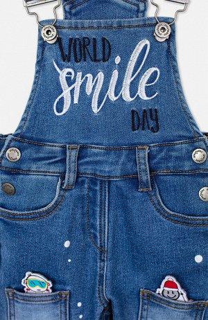 Комбинезон Состав: 98% хлопок, 2% эластан  Сезон: Весна, Лето  Цвет: синий  Год: 2021 Джинсовый комбинезон PlayToday из материала Loop Denim имеет внешний вид премиальной джинсы, а по тактильным ощуще