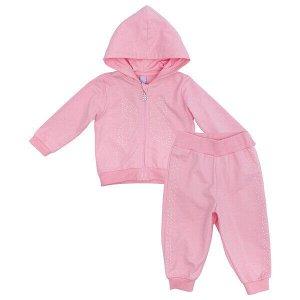 Комплект Состав: 100% хлопок  Цвет: светло-розовый  Год: 2021 Комплект из кофточки и брюк прекрасно подойдет как для домашнего использования, так и для прогулок на свежем воздухе. Мягкий, приятный к т