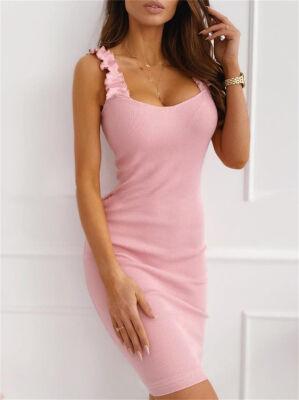 Платье Платье на бретелях Цвет: розовый Размер: S ОГ 88см, длина 88см
