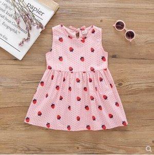 Платье Платье с клубничками Цвет: розовый Размер: 110 (рекомендовано на рост 100)