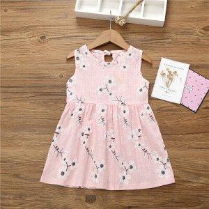 Платье Платье с цветочками Цвет: розовый Размер: 110 (рекомендовано на рост 100)