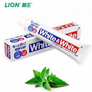 """LION Зубная паста """"White&White"""", горизонтальная туба, 150 гр."""