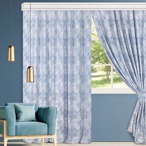 Комплект штор для гостиной, кухни Джерси блюз 200х270 см - 2 шт, 777-5041/1