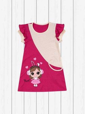 Платье с печатью (интерлок)
