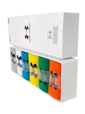 Набор спортивных носков для мужчин в коробке, 6 цветов