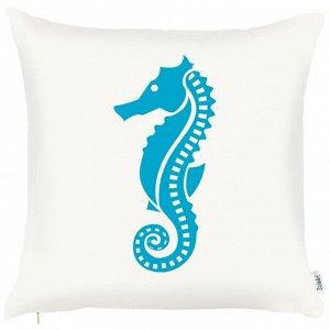 """Чехол для декоративной подушки """"Голубой океан"""", 45х45 см, P702-8765/1"""