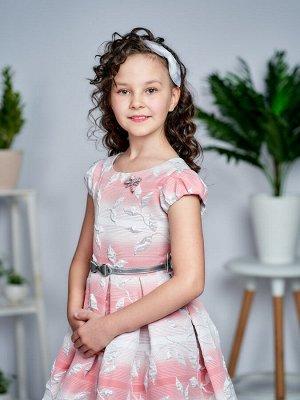 Платье Количество в упаковке: 1; Артикул: СС-1507; Цвет: Розовый; Состав: 100% полиэстер; Цвет: Розовый Скачать таблицу размеров                                                 Нарядное платье из жак