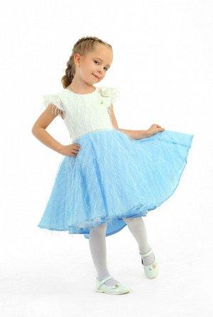 Платье Количество в упаковке: 1; Артикул: СС-1610; Цвет: Голубой; Состав: 100% полиэстер; Цвет: Голубой Скачать таблицу размеров                                                 Платье выполнено на ос