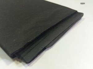 Бумага тишью (папиросная) 50*65см 10 листов цвет черный