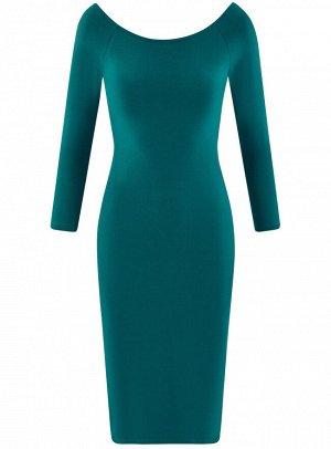 Платье облегающее с вырезом-лодочкой