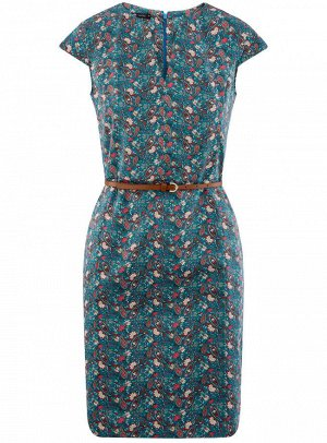 Платье-футляр с ремнем