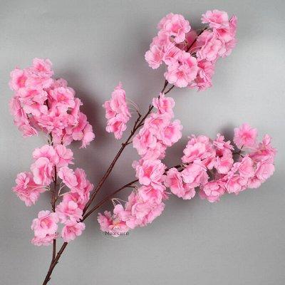 Искусственные Цветы на Пасху 2 мая Родительский День 11 мая — Ветка Сакуры Малая (одиночная) — Искусственные растения