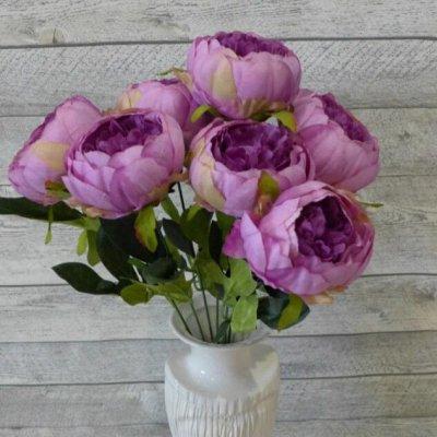 Искусственные Цветы на Пасху 2 мая Родительский День 11 мая — Ветка Пионов Тройная — Искусственные растения
