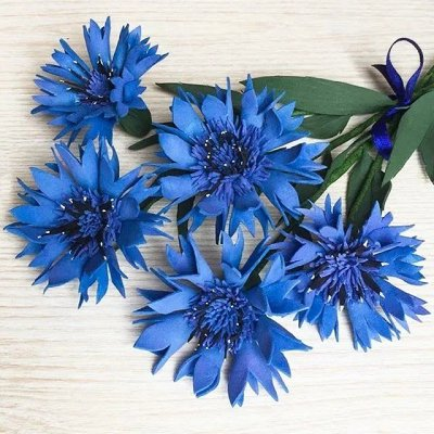 Искусственные Цветы на Пасху 2 мая Родительский День 11 мая — Ветка Васильков — Искусственные растения