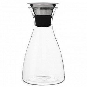 Графин 1 л боросиликатное стекло 12,2 х 22 х 12,2 Графин в лаконичном дизайне отлично подходит для подачи холодных и горячих напитков.Двойное горлышко удобно при наливании: ни одна капля не упадет на