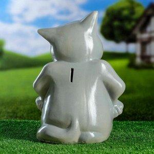 "Садовая фигура ""Волк"" серый, 28х22х23 см"