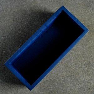 Кашпо Лофт прямоугольный VipSet 0,85л синий