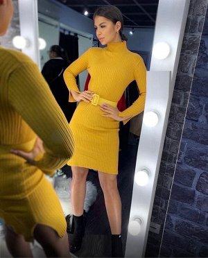 Платье-лапша с ремнём