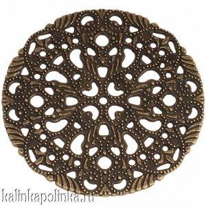 Коннектор круглый, цвет бронза, размер 41.5х41.5мм