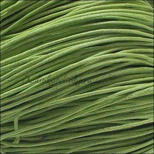 Шнур вощёный хлопковый, цвет весенний зеленый, толщина 1мм, в пасме 72 метра.