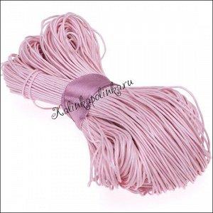 Шнур вощёный хлопковый, цвет розовый, толщина 1 мм, в пасме 72 метра