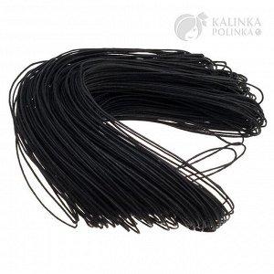 Шнур вощёный хлопковый, цвет чёрный, толщина 1 мм, в пасме 72метра.