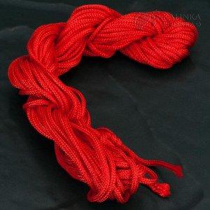 Шнур нейлоновый для браслетов Шамбала и Красная нить, цвет красный, толщина 1.5мм, в пасме 10м.