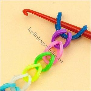 Резинки для плетения браслетов Rainbow Loom, резина, цвет микс, р-р 15х1мм