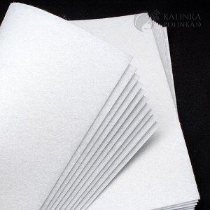 Фетр декоративный, полиэстровый, р-р 20х30см, толщина 1мм, белый, пр-во КНР.