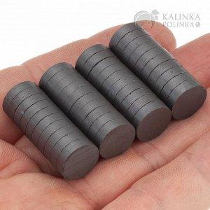 Магниты для сувениров, ферритовые, двусторонние, р-р 12х3мм.
