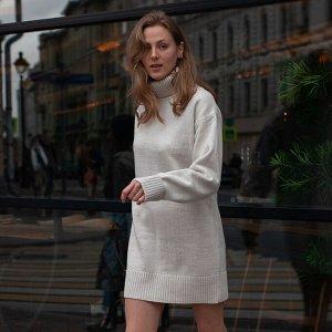 Платье вязаное Эмили 54-2343/молочный
