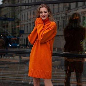 Платье вязаное Эмили 54-2343/оранжевый