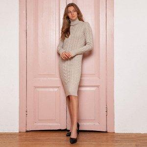 Платье вязаное Меган 54-2331/бежевый