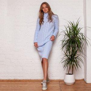 Платье вязаное Меган 54-2331/голубой