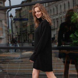 Платье вязаное Эмили 54-2343/черный