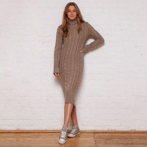 Платье вязаное Меган 54-2331/кофейный